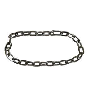 silver, chain, black