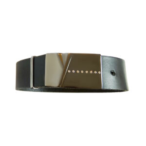 leather, silver, diamonds, bracelet, mens