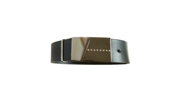 leather, silver, diamonds, bracelet, mens