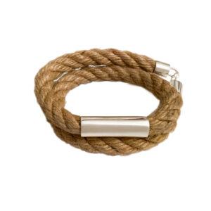 rope, silver, handmade, mens
