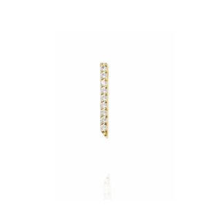 earrings, gold, diamonds