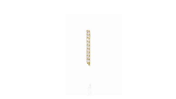 earrings, gold, diamonds