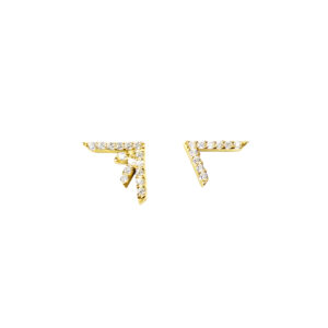earrings, gold, diamond