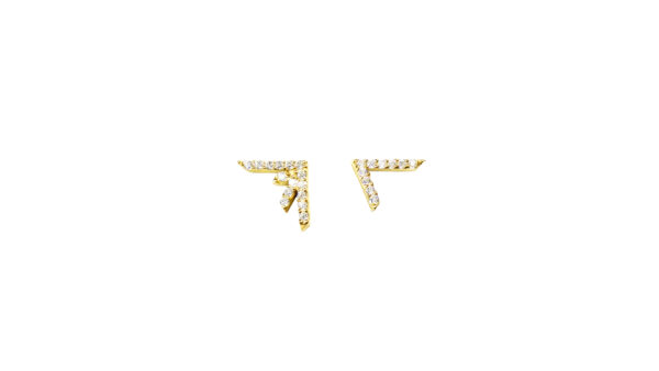 earrings, gold, diamond